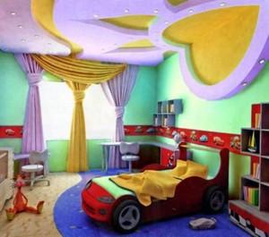 Потолки из гипсокартона для детской